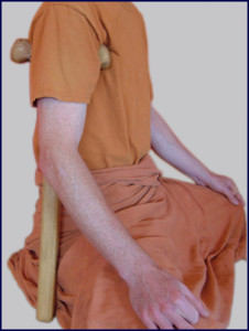 Использование йога-данды практикующим в Бихарской школе йоги